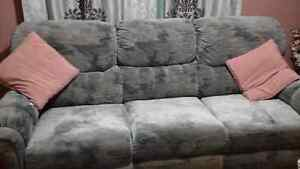Light blue couch and chair for sale Cornwall Ontario image 2