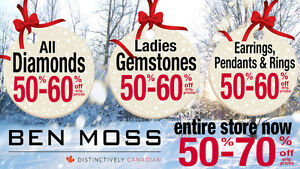 BEN MOSS STORE CLOSING SALE 50-70% OFF ENTIRE STORE
