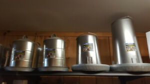 Poultry and Game waterers and feeders. Assorted sizes.