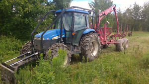tracteur chargeuse forestier