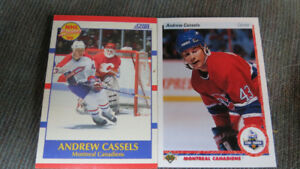 Andrew Cassels NHL rookie cards(2)