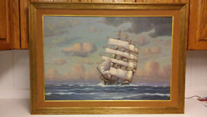 Listed American artist WINFRIED, J., (20th C.) ship clipper