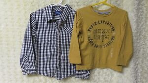 Boys 2 Pce - Designer Mexx Shirt, Mexx L/S Top Size 5-6 Years