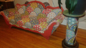 Hand upholstered antique couch.  AN AMAZING PIECE  OF CANADIANA