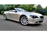 SUPERB BMW 6 SERIES CONVERTIBLE 650i 4.8 M SPORT AUTO BEIGE LEATHER ALLOYS