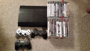 500 gb ps3, controllers and games for sale