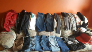 Bag of clothes sizes; 00 jeans,  x small tops. Coats never worn