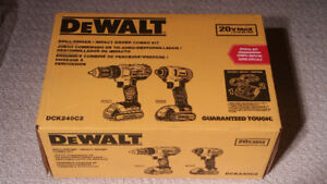 BEST OFFER TAKES Brand new DEWALT Drill/Driver and Impact set