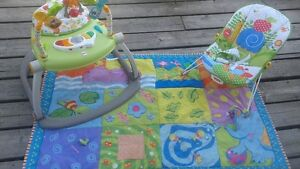 bounce and play, play mat, bouncy chair