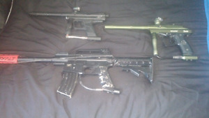 3 paintball markers