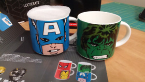 Stacking mug set - Captain America and The Incredible Hulk