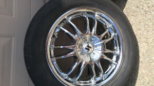 CHROME 17 INCH RIMS