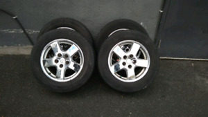 215/65R16 tires with mags 5x114.3