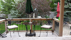 Custom Made Bistro Table with Chairs