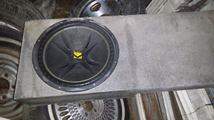 "15"" kicker and sub box GMC ex cab"