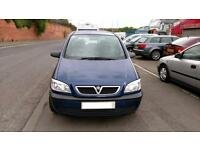 VAUXHALL ZAFIRA 1.6 LIFE LOW MILES 7 SEATER IN BLUE AUG TEST DRIVES WELL 2005