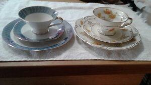 Bavarian china three piece sets