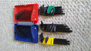 Brand new torx and hex key sets forsale