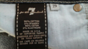 7 FOR ALL MANKIND Jeans Size 29 ROXANNE dark wash - EUC wore 3x London Ontario image 4