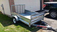 For Sale 5 x 8 Galvanized Utility Trailer