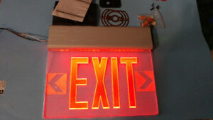 "EXIT SIGNS -- LED -- MULTI POSITION -- NEW   ""RED"""