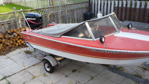 Boat, motor with trailer