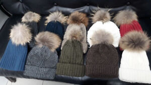 Real Fox Fur hats, slides, pillows and bags - made in Greece