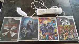 4 Wii Games and Controller / Nunchuk