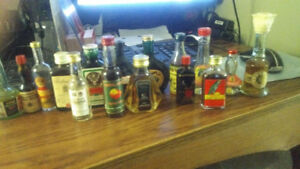 Mini bar alcohol bottle collectables