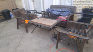 Wicker patio set