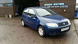 2004 53 FIAT PUNTO 1.2 8v ACTIVE,3 DOOR,LOW INSURANCE SO IDEAL FIRST CAR