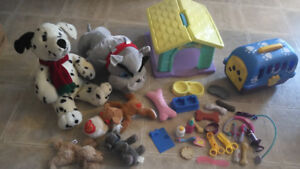 puppy  house, kennel and vet play set