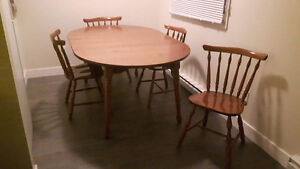 Solid Wood Dining Chairs and Table