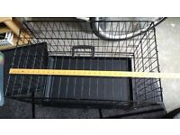 Dog Cage (new) and Bed (new) for small dog or puppy