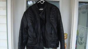 real good quality black leather bike jacket size 54 xl-xxl