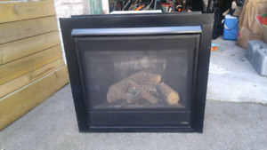 Large Direct Vent Gas Fireplace Insert