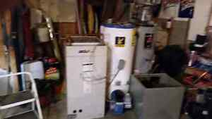 Oil fired furnace and 2 oil fired hot water tanks
