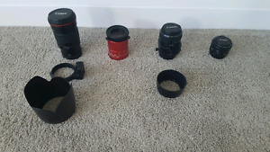 Canon lenses - 50mm 90mm 200mm