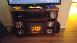 Tv unit with fireplace