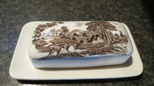 J.&G.Meakin Royal Staffordshire butterdish