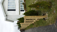 Fencing , sheds , walkways , driveways and planters