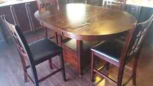 Dark brown breakfast table Kitchener / Waterloo Kitchener Area image 3