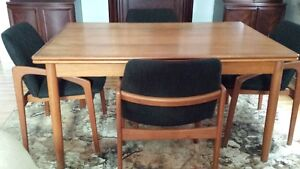 mid century modern dining set with sideboard