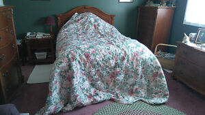 Gently used Bed Spread  - Floral Pattern