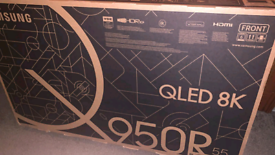 Samsung 55 inch q950r qled 8k smart new boxed tv