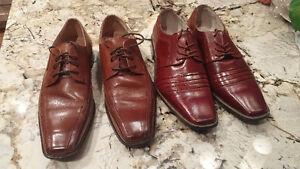 Men's sz 11 brown leather dress shoes