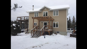 Waterfront open concept home in unorganized township.