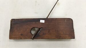 ANTIQUE 1800'S SIGNED RABBET MOLDING NOSING PLANE