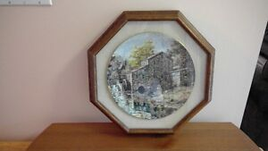 Keirstead - Grist Mill - framed collector plate