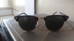 Authentic Ray Ban Sunglasses, Clubmaster Model